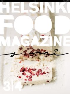 Helsinki Food Magazine's Christmas issue is out now! Get your copy for iPad from App Store/Newsstand. #helsinkifoodmagazine #helsinkifoodcompany