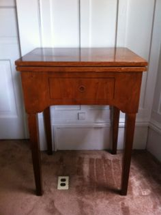 Side table (a cool old sewing table)  78 x 56 x 46cm $30