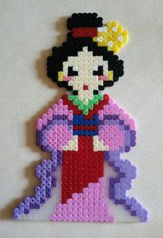 Mulan hama beads by Ian Howard
