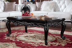 Neoclassical style long coffee table - MelodyHome.com