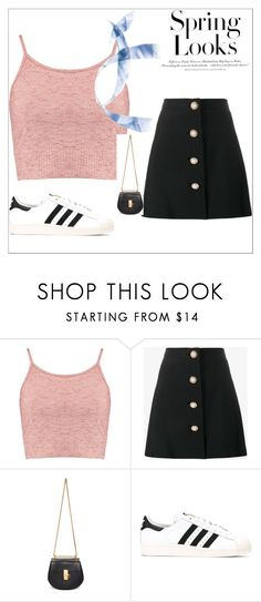 """""""Untitled #56"""" by anthomas253 ❤ liked on Polyvore featuring Boohoo, Miu Miu, Chloé, adidas Originals, H&M and springlooks"""