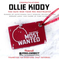 Congratulations to Ollie Kiddy, you have won your #PDSMOSTWANTED .The Runners up will get to choose ONE item from their list. If you can all email us at soccer@prodirectsport.com, we'll do the rest. Thankyou to Everyone that entered