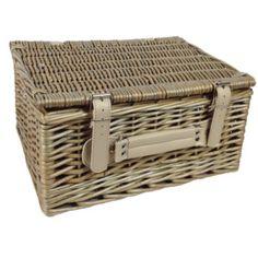 Picnic Basket Alpen Home Size: 15 cm H x 26 cm W x 36 cm D Wine Picnic Basket, Wine Baskets, Storage Baskets, Wicker Hamper, Hamper Basket, Picnic Backpack, Trunks And Chests, Basket Decoration, Picnic Blanket