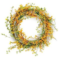 Forsythia wreath for front door