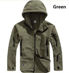 Winter Military Tactical Outdoors Softshell Fleece Jacket