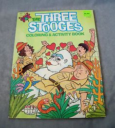 1983 The Three Stooges Coloring & Activity Book Uncolored Vintage Moe Larry