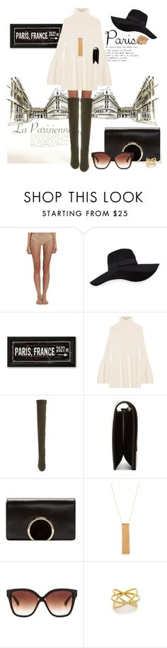 """I Love Paris in the Fall"" by sjkfavorites ❤ liked on Polyvore featuring Cosabella, San Diego Hat Co., Rosetta Getty, Jimmy Choo, Chloé, Gorjana, Dita, Michael Kors, GetTheLook and outfit"