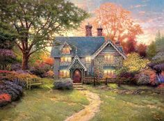 A Wise Woman Builds Her Home: In Memory of Thomas Kinkade: Beloved Christian Painter