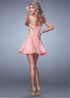 Stunning Satin Sweetheart Neckline A-line Homecoming Dresses With Beadings & Rhinestones