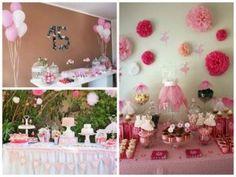 festa em casa rosa