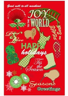 New Zealand Christmas Card Christmas Wishes, Christmas Art, All Things Christmas, Xmas, Christmas Ornaments, Holiday Messages, Words With Friends, All Things New, Background S