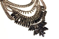 Boho tribal inspired metal necklace