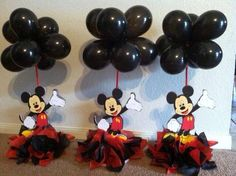 Centro de Mesa Mickey Mouse Theme Party, Mickey Mouse Centerpiece, Fiesta Mickey Mouse, Mickey Mouse Baby Shower, Mickey Mouse Clubhouse Birthday Party, Mickey Mouse Birthday, Elmo Party, Elmo Birthday, Dinosaur Party