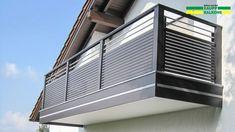 Balcony railing Alu AB 124 – Kaupp balconies - All About Balcony Balcony Grill Design, Balcony Railing Design, Window Grill Design, Pipe Railing, Steel Railing, Glass Railing, Deck Railings, Exterior Stair Railing, Staircase Handrail