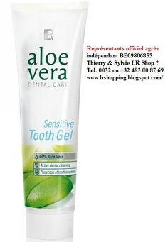 Dentifrice pour dents sensible  aloe vera  LR shop.     Dentifrice aloe vera pour dents sensible - Gel dentifrice Aloe Vera Sensitive LR H...