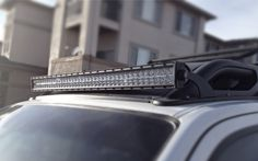 """Finally an easy streamlined way to mount a 40"""" LED light bar on the roof of  your Xterra.  Whether you want to get rid of those under powered OEM """"offroad"""" lights or  upgrade your rig with some serious lighting the GRRilla MountTMmade  exclusively by OffroadGorilla.com are your solution.      * Easily installs in minutes     * Uses existing roof rack bolt locations, no holes to drill     * Locates the light bar as close to the air dam as possible, minimizing       wind noise     * Made with…"""