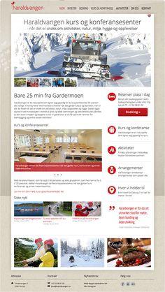 Haraldvangen er et kurs og konferansesenter som ligger idyllisk til ved Hurdalsjøen og de ønsket å fornye websidene sine. Vi designet de nye nettsidene deres med farge, varme og et budskap som gjenkjenner hvem de er, hva de har og tilby og ikke minst hvor de hører til.