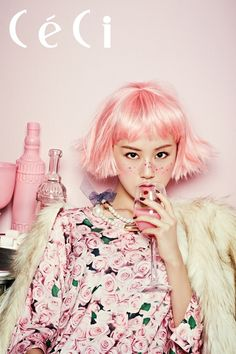 "4minute's Gayoon ""Pink-Holic Fantasy"" Muse CeCi Fashion Magazine October 2013 Issue [Photo #3]"
