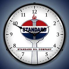 Unique Clock Works - Standard Oil, Lighted Petroliana Wall Clock, $124.95 (http://uniqueclockworks.com/lighted-vintage-clocks/gas-and-oil-wall-clocks/standard-oil-lighted-petroliana-wall-clock/)