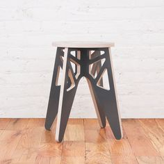 Rocket Large Gray by Isaac Krady Loft Furniture, Modular Furniture, Plywood Furniture, Modern Furniture, Furniture Design, Puzzles 3d, Plywood Chair, Cnc Woodworking, Chair Design
