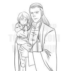 Elrond and Estel Lines by TokiDokiLoki