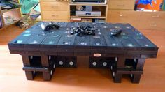 table made from old VHS tapes.