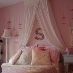 Girls' Bedroom Design, Pictures, Remodel, Decor and Ideas - page 5 Bedroom Wall, Girls Bedroom, Bedroom Decor, Girls Canopy, Decor Room, Girls Headboard, Bedroom Sets, Princess Room, Princess Bedrooms
