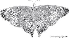 Print butterflies adult picture online free coloring pages