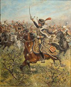 Carica dei cacciatori a cavallo della guradia imperiale francese