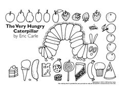 Very Hungry Caterpillar  From:  http://www.eric-carle.com/ColoringSheet.jpg