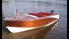 Runabout Boat, Classic Wooden Boats, Old Boats, Power Boats, Yachts, Drinks, Art, Boats, Ships