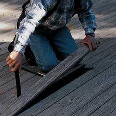 Repairing deck instead of replacing.