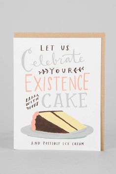 Emily McDowell Celebrate With Cake Birthday Card - Urban Outfitters