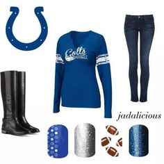 Are you a Colts fan?! Show your pride with these super adorable Jamberry nail wraps! www.jesslittle.jamberrynails.net