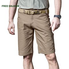 FREE SOLDIER Outdoor tactical camping hiking shorts, wear-proof breathable breeches spring-summer men's tactical shorts Hiking Shorts, Spring Summer, Summer Men, Hiking Clothes, Camping, How To Wear, Outdoor, Outfits, Free