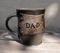 Made to Order Rustic Mug for Dad on Father's Day