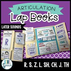 This lap book is a fun and practical way to not only practice the R, S, Z, L, SH, CH, J, and TH speech sounds, but also learn about the way we produce them.It includes more than just coloring and word lists. Students will learn about the articulators, placement and voicing of their target sound, review goals, and can even track their progress.