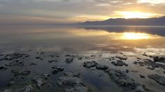 We watched our first 2018 sunset yesterday at the Salton Sea CA. [OC] [5312 x 2988] http://ift.tt/2CxbsPS