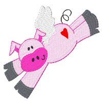 Ever imagined if pigs could fly?  My dad use to tell me that pigs could!  This adorable set is a wonderful set to accompany the old saying, which I just know children and adults will both adore.
