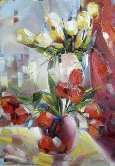 Тюльпани на підвіконні, 2009, Людмила Скрипченко, Україна