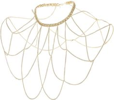 Womens gold connect body chain from Topshop - £18.50 at ClothingByColour.com