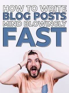 How to write blog posts mind-blowingly fast. Follow this guide to create 2000+ word blog posts that create value for your readers and rank well in search engines to drive traffic to your website, online store or blog. It's a lot easier than you think by following this impactful guide to stop you from over thinking, help get the creative juices flowing and get the words rolling right onto your blog. #blogging #blogtips | Outofthe925.com Blog Writing Tips, Blog Tips, Make Money Blogging, How To Make Money, Blogging Ideas, Thing 1, Creating A Blog, Blogging For Beginners, Pinterest Marketing