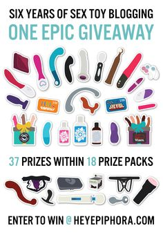 Swanky sex toy prize packs in Epiphora's enormous blogiversary giveaway! Visit http://bit.ly/37sextoys for all the ways you can enter.