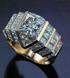 Bez diamond is a square brilliant stone with 49 facets. Won the De-Beers award ATW Quadrillion ring Diamond Rings, Diamond Jewelry, Jewelry Rings, Jewelry Accessories, Fine Jewelry, Gold Jewelry, Jewlery, Bijoux Design, Schmuck Design