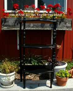 *SOLD* What Not Shelf in General Finishes Lamp Black https://www.facebook.com/TheHouseattheEndoftheRoad