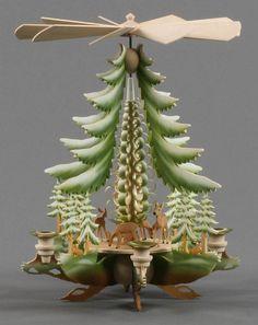 Wishlist!  German Christmas pyramid scenes.  Pyramide mit Rehe farbig Erzgebirge