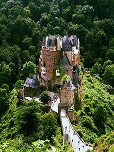 German castle Burg Eltz (Eltz Castle) one of the most beautiful and most visited European castles.