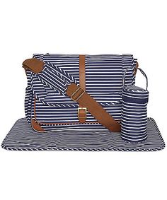 Mothercare Satchel Changing Bag- Navy Stripes