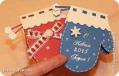 Masterat Clasa felicitare de Anul Nou aplicatiile Kirigami pop-up Crăciun mănușă de box card cu o fotografie secretă 12