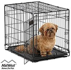 Dog Crate MidWest iCrate 24 Folding Metal Dog Crate w Divider Panel Floor Protecting Feet LeakProof Dog Tray x x Inches Small Dog Breed Black * Learn more by visiting the image link. (This is an affiliate link) Extra Large Dog Crate, Large Dogs, Small Dogs, Pet Dogs, Dogs And Puppies, Pets, Chihuahua Dogs, Dog Crate Divider, Dog Crate Sizes